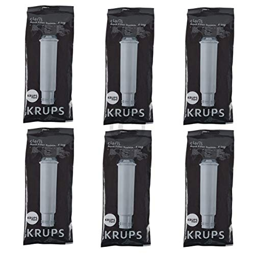 Krups F088 SET 6x ORIGINAL Wasserfilter Chlorfilter Kalkfilter Claris Aqua mit Schraubanschluss z.T. Orchestro XP7200 XP7220 XP7240 XP9000 Artese 01-05 Espressoautomat Kaffeeautomat Espressomaschine