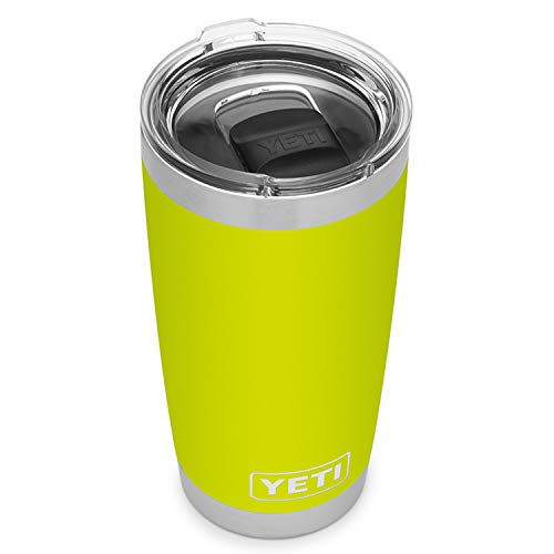 YETI Rambler 20 oz Tumbler, Stainless Steel, Vacuum Insulated with MagSlider Lid, Chartreuse