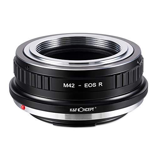 K&F Concept マウントアダプター M42レンズ-Canon EOS Rカメラ装着 M42-キヤノンRF 無限遠実現 メーカー直営店