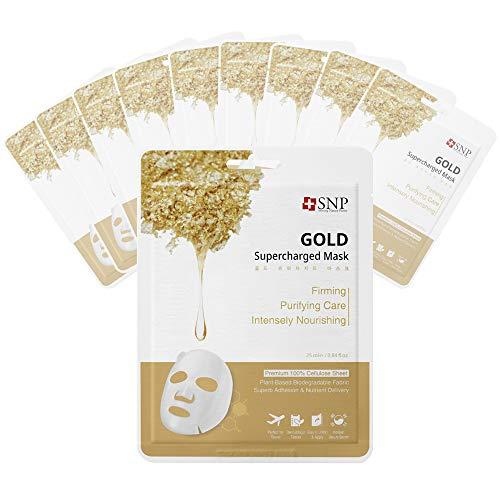 Gold sheet mask, Gold sheet masks, Gold facial mask