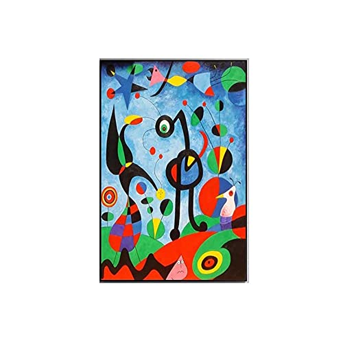 Joan Miro Famoso Cuadros Abstracto Infantil Arte Impresiones Abstracto Lienzo Pared Arte Joan Miro Poster Moderno HabitacióN Hogar Pared Decoracion 50x70cm No Marco