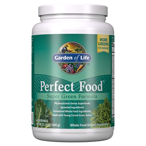 Garden of Life Whole Perfect Green Superfood Vegetable Dietary Powder Supplement, 600 g