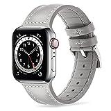 Tasikar Armband Kompatibel mit Apple Watch Armband 41mm 40mm 38mm Leder und Flexiblem Silikon Design...