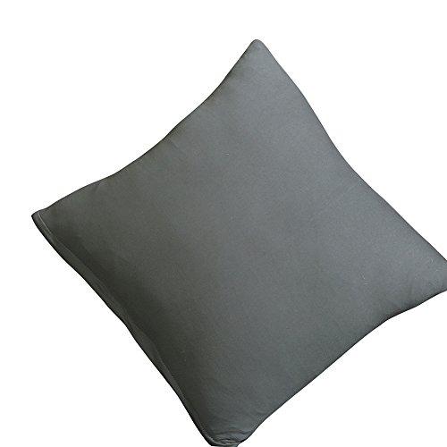 JIAN YA NA Coussin Solide Couverture 18 « x18 » Polyester New Living Coussin décoratif Case Canapé Home Décor Coussin Coussin avec Fermeture à glissière Invisible Sham Slipcover Gris
