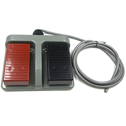 cherrypop Interruptor de pie de plástico instantáneo con doble pedal de dos vías de doble uso