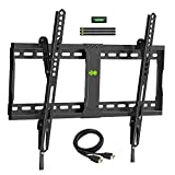 USX MOUNT TV Wall Mount Tilting Brackets for Most 37'-70' LED 4K OLED Flat Screens, TV Mount with Max VESA 600x400mm and Weight Capacity 132lbs, Low Profile Space Saving for 16', 24' Stud
