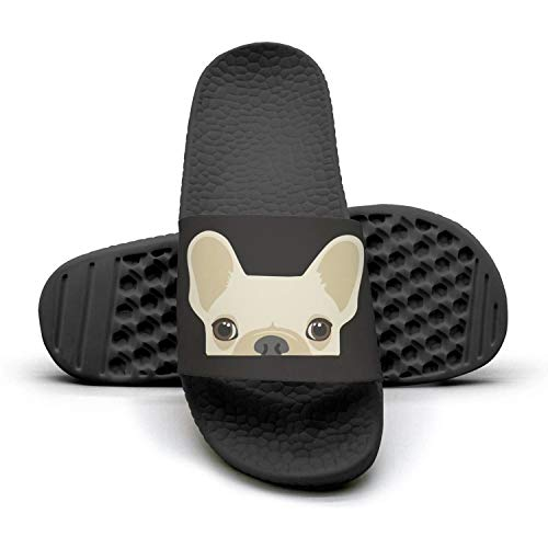HURSUEE Women's Slides Shoes Funny French Bulldog Puppies Slippers Comfortable Sandals