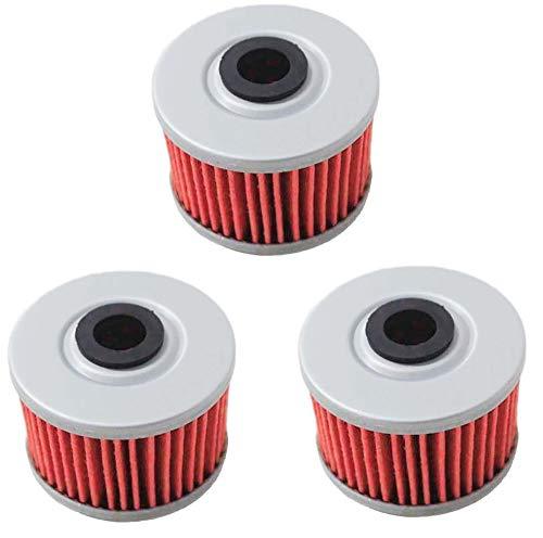 Poweka KN113 Oil Filter Compatible with TRX350 TRX400 EX CB400 ATC250ES ATC350X TRX500 TRX300EX RX350TM,Replace HF113