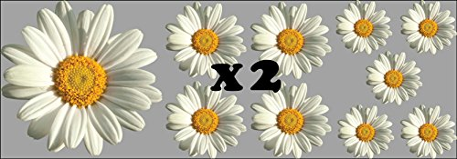 WaterShed Designs Daisy-Flower-Decals-Car-Stickers-Graphics-Nursery-Wall-Window-Decorations-Art (20 pack)