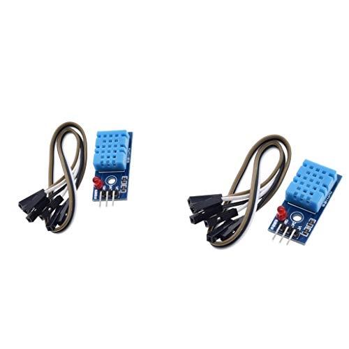 B Baosity 2X Digitales Temperatur Feuchtigkeitssensormodul DHT11 für Raspberry Pi 2 3
