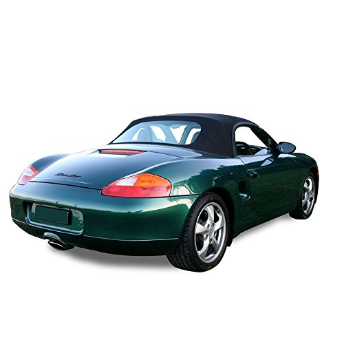 compatible with Porsche Boxster Convertible Top With Plastic Window Black Stayfast (1997-2002)