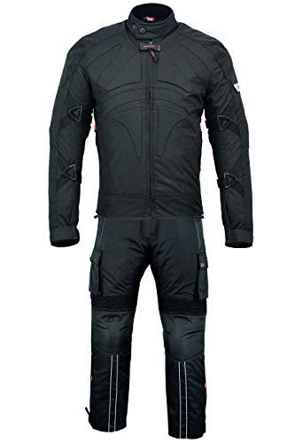 negro//gris claro Chaqueta German Wear Traje para moto de tejido Cordura Pantal/ón de Motorista