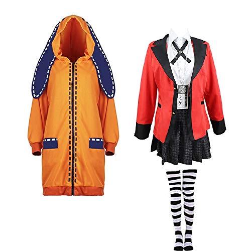 Disfraces Cosplay Anime Kakegurui Yomozuki Runa Halloween Cosplay Disfraz Conjunto Completo Chaqueta...