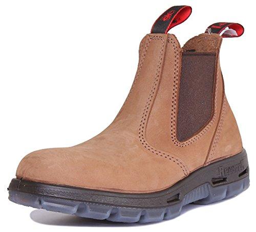 RedbacK UBCH Chelsea Boots Nubuck Crazy Horse aus Australien - 37 (UK 4) - braun