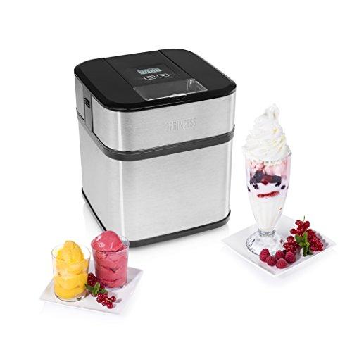 Máquina de helados Princess 282605 – Prepare helado casero – Capacidad de 1,5 litros