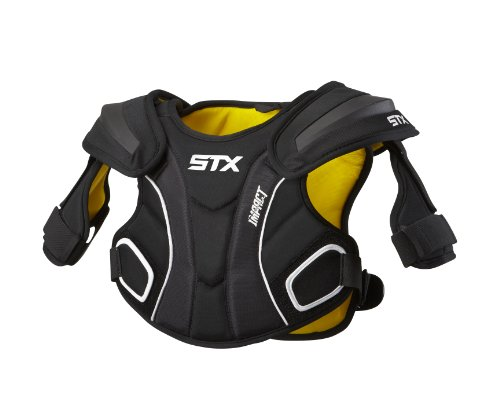 STX Lacrosse Impact Shoulder Pad, Black, Small