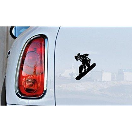 SUPERSTICKI® Snowboard Snowboarding 15 cm Aufkleber Autoaufkleber Sticker Tuning Vinyl UV& Waschanlagenfest Tuningsticker