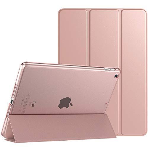 TiMOVO Funda para Nuevo iPad de 8ª Generación 2020,Nuevo iPad 7ª Generación 10.2  2019,Protectora Plegable para iPad 10.2-Inch Tableta Cubierta Trasera Transparente - Oro Rosa
