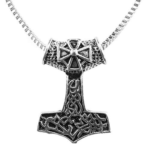 URBANTIMBER Wikinger Halskette Mjölnir Eisernes Kreuz