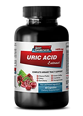 antioxidant All in one - URIC Acid Formula Extract 1430Mg - Urinary Food - 1 Bottle (60 Capsules)