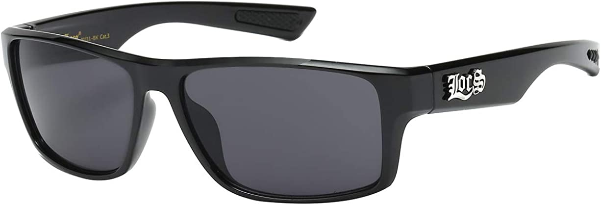 Locs 91111 Black Sunglasses Authentic Cheap Challenge the lowest price of Japan ☆ mail order sales Cholo Lowrider Gangster