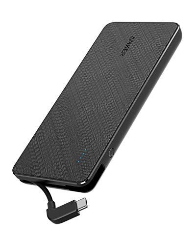 Anker PowerCore+ 10000 Portable Charger w/ Built-in USB-C Cable  $17 at Amazon