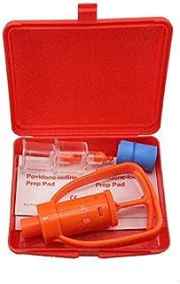 iwobi Portable Extracteur de Venin d'urgence, Kit de Secours Survie Anti Venin Guepes Serpent Randonneur