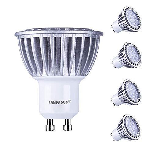 Lampaous gu10 led 7w kaltweiss Leuchtmittel Led Lampe Spot Birnen ersetzt 70 Watt Halogenlampe 600lm 230V AC 4er Pack