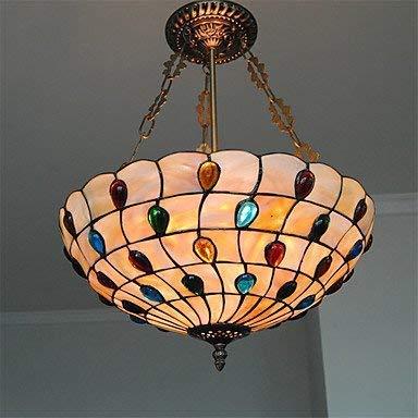 Moderne kroonluchters plafondlampen hanger 16-inch antieke Tiffany lamp tinten woonkamer eetkamer verlichting 3C ce Fcc Rohs voor woonkamer slaapkamer