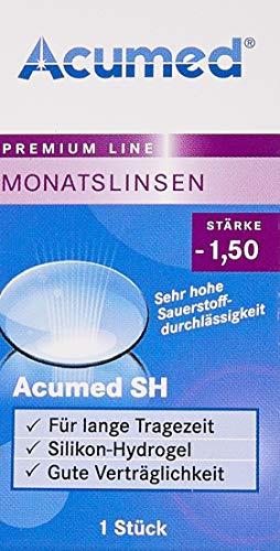Acumed SH Monatslinsen weich, 1 Stück/BC 8.6 mm/DIA 14.2 mm / -1.5 Dioptrien