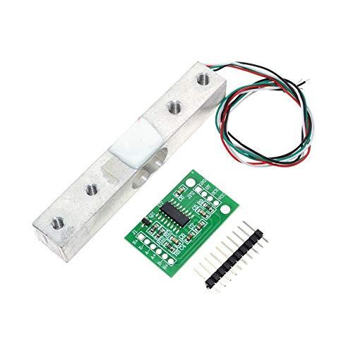 ARCELI HX711 ADC Konverter Breakout Modul Digitaler Wägezellen-Gewichtssensor 1KG Tragbare elektronische Küchenwaage, DIYmall für Wägezellen-Gewicht,