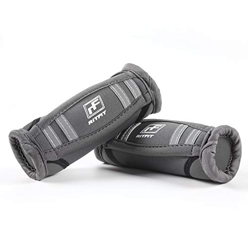 RitFit Walking Hand Weights(Grey - 3lbs(1.5lbs each))
