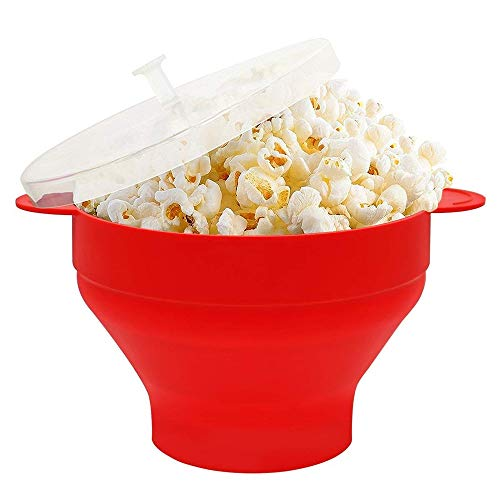 Best Prices! YWT Silicone Popcorn Bowl Foldable Microwave Popcorn Bucket High Temperature Large Cove...