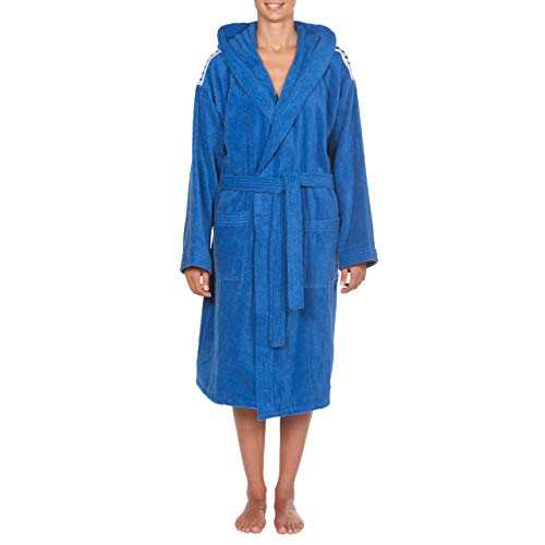 ARENA Erwachsene Unisex Bademantel Soft Robe Core, royal White, XS