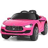 Costzon Ride on Car, 12V Licensed Maserati Gbili, Battery Powered Car w/2 Motors, Remote Control,...