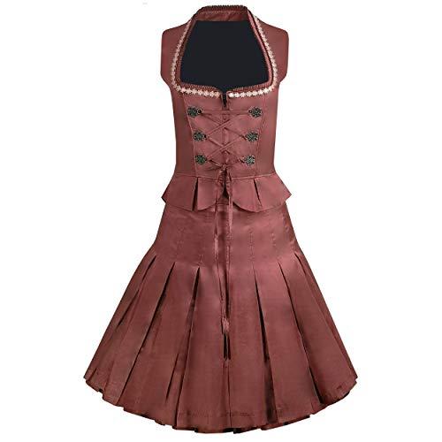 Exclusief 2-dlg. Klederdracht Dirndl tweedelig kostuum Tanja rok en lijfje in oudroze