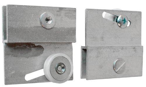 Prime-Line Products M 6054 Frameless Sliding Shower Door Top Bracket, 3/4 in., Flat Plastic Wheel, Steel Ball Bearings,White