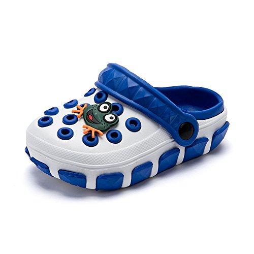 Gartenschuhe Kinder Unisex Clogs Jungen Mädchen Badeschuhe Sandalen Hohl Pantoletten rutschfeste Latschen mit Cartoon Frosch Biene