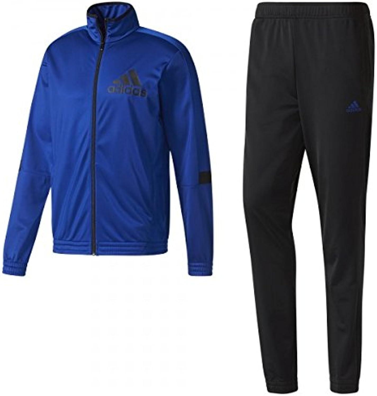 Adidas Herren Prsentationsanzug Tentro KN TS Trainingsanzug Blau Schwarz Neu