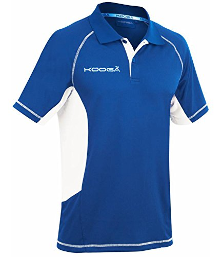 Kooga Elite Tech Polo T-Shirt Large Bleu Roi/Blanc