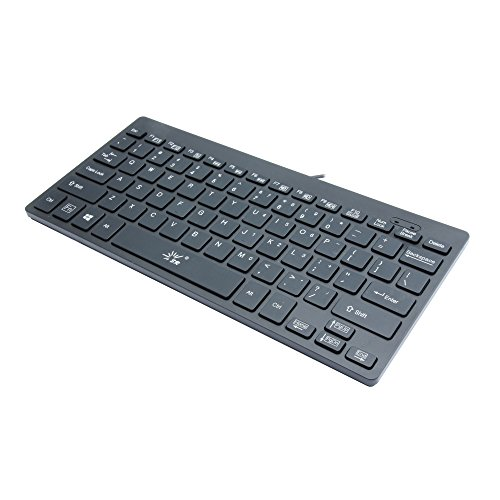SR Mini Keyboard Wired Thin portable 78 Keys Usb Multimedia Small for Pc Computer Laptop