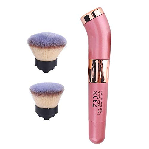 Pinceau de maquillage multifonctionnel Duevin, outil de maquillage de brosse cosmétique portable pour pinceau de fond de teint, adopte un interrupteur rotatif et la tête de brosse est remplaçable