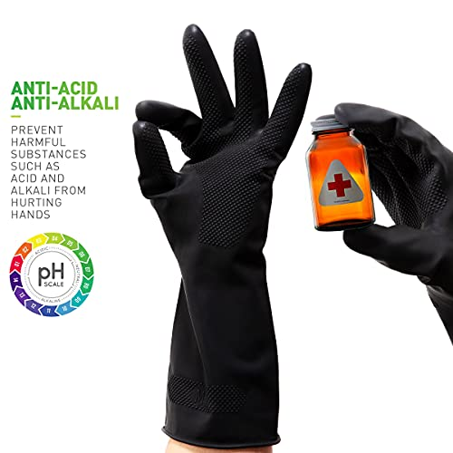 Product Image 5: ThxToms Dishwashing Gloves, 3 Pairs Reusable Latex Cleaning Gloves for Housework, Kitchen, Bathroom, Extra Large