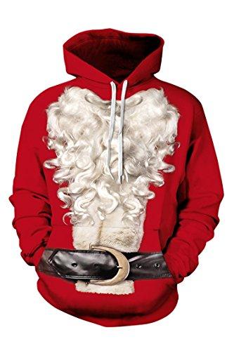 Cutiefox Womens Cute Pullover Ugly Christmas Sweater Hoodie Sweatshirt M