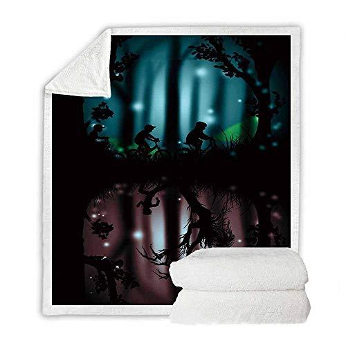 LIFUQING Gedruckte Sherpa Stranger Things Sofa Sherpa Decke Casual Child Sherpa Adult-150X200Cm