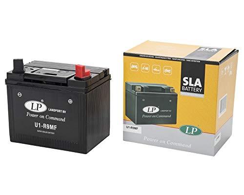 LANDPORT U1-R9MF Batterie 12V 24aH für Rasenmäher, Rasentraktor, Aufsitzmäher [inkl. 7.50 Batteriepfand]
