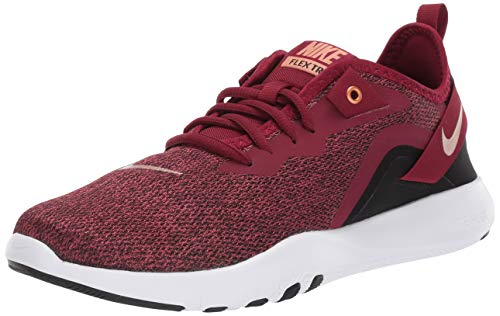 Nike Women's Flex Trainer 9 Cross, Team Red/Metallic Copper-Black-White, 12 Wide US
