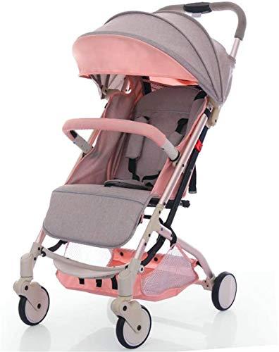 【Nueva actualización】 Cochecito de bebé, silla de paseo reclinable convertible, plegable y portátil, sistema de viaje Jogger Cochecito infantil para recién nacidos ¡Es seguridad y lo mejor!