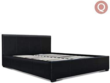New Nino PU Leather Gas Lift Bedframe Black Queen