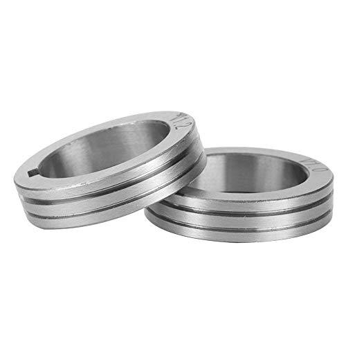 Schweißdrahtvorschubrolle 30mm Stahldrahtvorschubrolle 0,8/1,0/1,2 Schweißdrahtvorschubführungsrolle für Binzel(1.2mm)